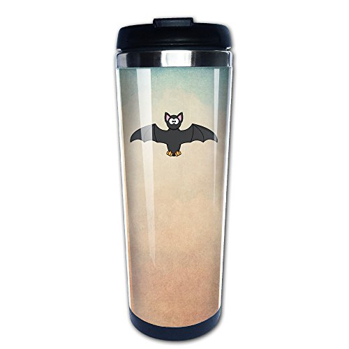 Boomy Funny Halloween Bat Stainless Steel Coffee Mug For Indoor & Outdoor Office School Gym Use (Halloween Costume Stores San Jose)