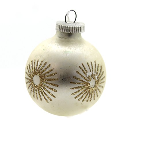 Holiday Ornaments Gold Glittered Ornament Glass West Germany Christmas Ta9060 ()