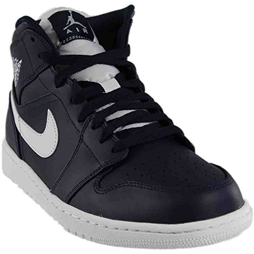 Price comparison product image Nike Men's Air Jordan 1 MID Obsidian/White 554724-402 (SIZE: 8.5)