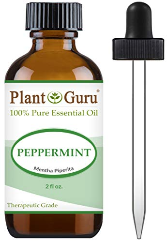Peppermint Essential Oil 2 oz 100% Pure Undiluted Therapeutic Grade Extract of Mentha Piperita, Great for Aromatherapy Diffuser, Skin Body and Hair.