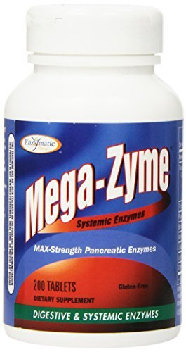 Enzymatic Therapy Mega-zyme, 200 Tablets (Pack of 3 (200 tabs ea))
