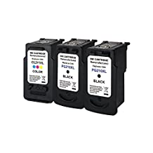 Inktopia Remanufactured Ink Cartridges Replacement for Canon PG 210XL 210 XL & CL 211XL 211 XL 3 Pack (2 Black, 1 Color)