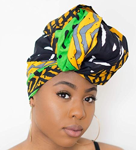 (African headwrap for women, Rasta Head wrap NOT PRE-TIED)