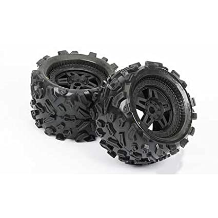 Chassis, Drivetrain & Wheels Rc Tires Big Joes With Rims 2nd Set Of White Rims Making Things Convenient For The People Rc Model Vehicle Parts & Accs