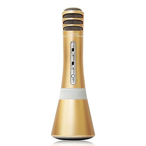 Full Power - idol K8 Bonjour Bluetooth Speaker Microphone (Gold) (Idol Microphone Wireless)