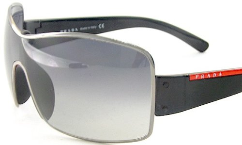 928cd53b13 New Prada Sunglasses Sps 50E Sps50E 5Av-5D1 Soft 125 Black Lens Black Frame   Amazon.co.uk  Clothing