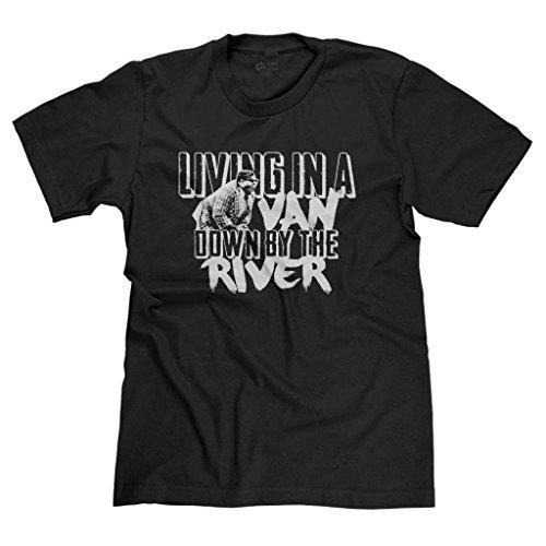 FreshRags Living in a Van Down by The River SNL Men's T-Shirt Black XL