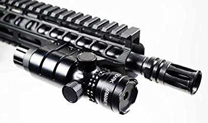 Green Laser Sight System by Ozark Armament - 5mw 532nm High Powered  Tactical Green Laser with Picatinny Rail Mount Barrel Mount Pressure Switch  and