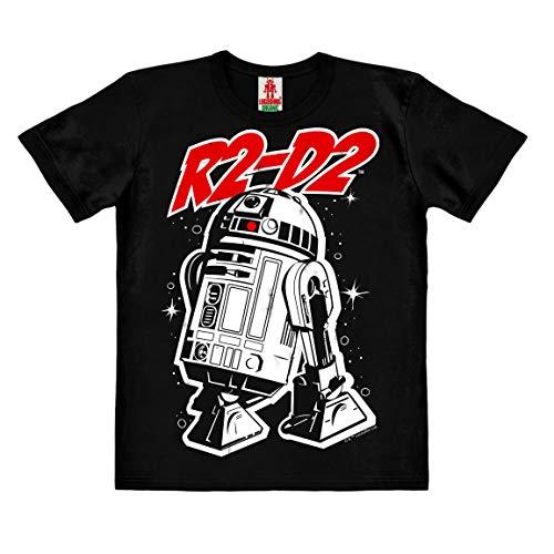 LOGOSHIRT – Star Wars – Robot – R2-D2 – T-Shirt duurzaam – Kinderen – zwart – Gelicentieerd origineel ontwerp