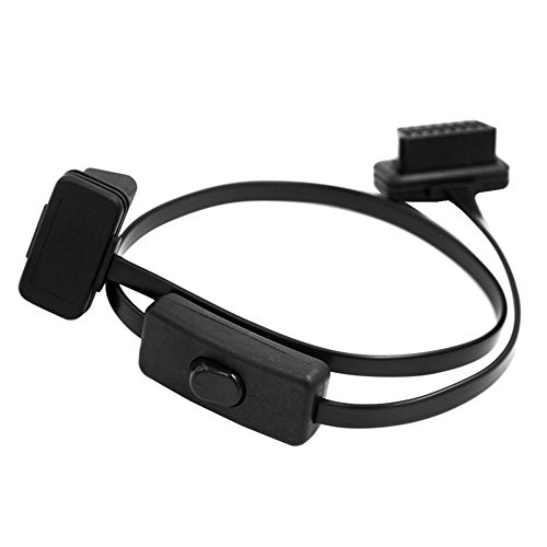 DLSEAUTO Cable To 16Pin OBD2 Connector OBD 2 Cable 16Pin Female Connector OBD II OBD2 ELM327 With Switch Diagnostic Tool Connector: