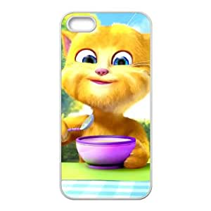 Talking Ginger, a cat iPhone 5 5s Cell Phone Case-White Hbrdo