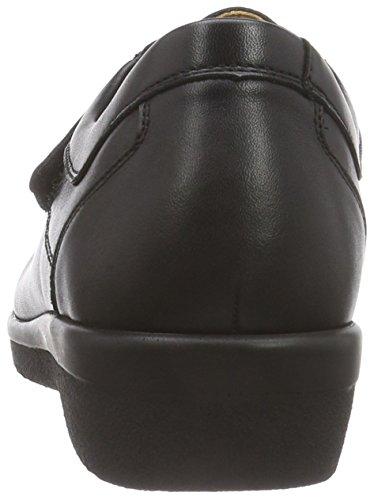 Ganter SENSITIV INGE, Weite I - Zapatillas de casa de cuero mujer negro - Schwarz (schwarz 0100)