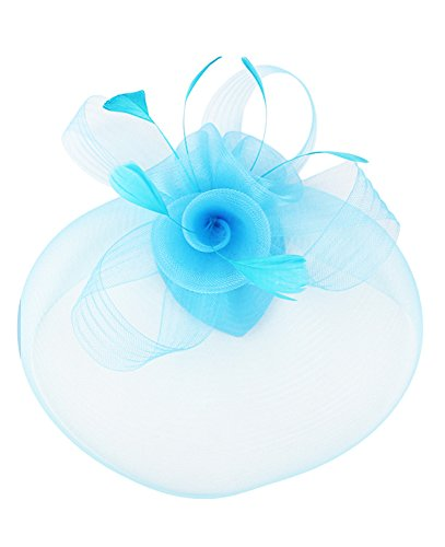 light blue feather clip - 2