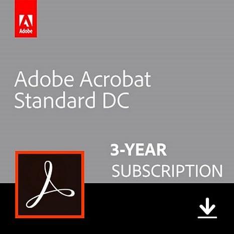 Amazon com: Adobe Acrobat Standard DC 3-YEAR Subscription