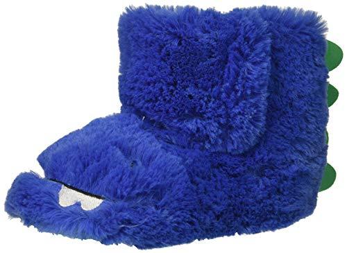 carter's baby-boys' Calvin Monster Slipper, Blue, 7/8 M US Toddler