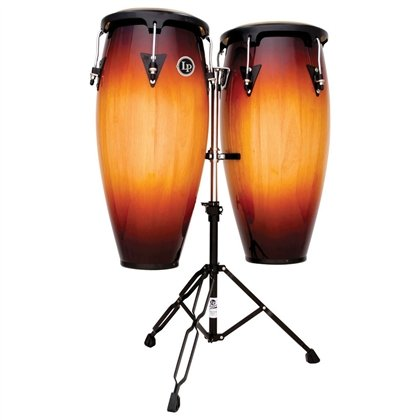 (LP Aspire 10 & 11 inch Conga Set with Stand Vintage Sunburst LPA646-VSB)