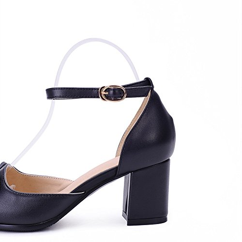 Balamasa Kvinna Studded Strass Metallspännen Spunna Glasdiamantmikrofiber Guld Bowknot Pumpar-shoes Svarta