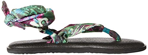 Sanuk Sandal Yoga Turquoise Gladiator Women's Paon Up Slinged 4wTwCHq