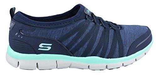 Skechers GratisShake-It-Off - Zapatilla Baja Mujer azul claro/azul marino