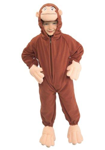 Curious George Fleece Toddler Costume 2T-4T -