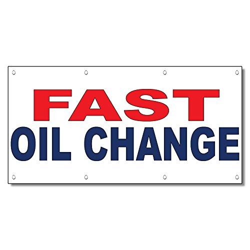 Fast Oil Change Red Blue Auto Car Repair Shop Vinyl Banne...