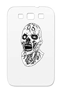 TPU Zombie Walking Hell Brains Holidays Occasions Halloween God Label Trick Treat Trick Or Undead Attack Dead Bait Walk Earth White Zombie Head WB For Sumsang Galaxy S3 Protective Case