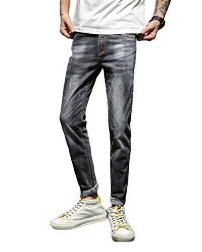 Buco Jeans Denim Classiche E Lavati Dritti Con Ragazzi Casual Color T 1918grau Da Stretch Pantaloni Slim Piccoli Fit Uomo wqqAFxg1
