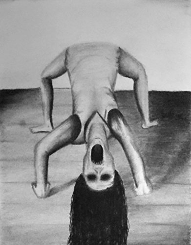 1 11 x 14 The Possession - Charcoal Drawing and Illustration - Dark Gothic Satanic Art - Occult Demonic Haunted Monsters - Original Scary Macabre Halloween Art -