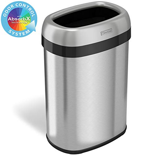 iTouchless Top Trash Can and Recycle Bin Large 12-Inch Opening with...