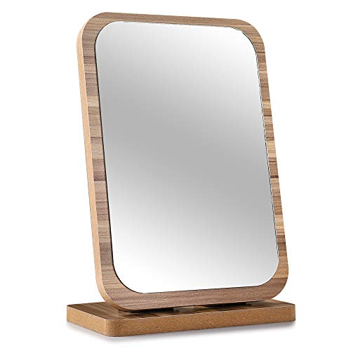 Tinland Makeup Mirror Wood Frame Rustic Finish for for sale  Delivered anywhere in USA