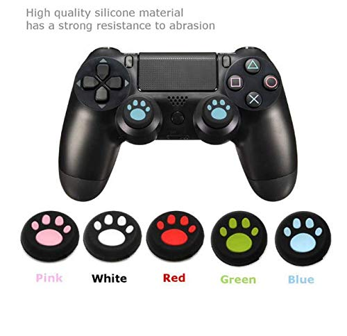 VNDEFUL 5Pairs PS4 Cat Claw Rocker Cap Silicone Cap Handle Rocker Cover PS3ONE Rocker Protection Cap PS4 Cat Claw Cover