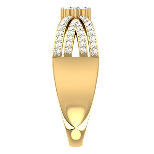 Or jaune 18K 0,42CT TW Round-cut-diamond (IJ | SI) en diamant
