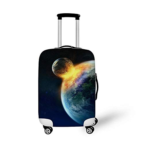 Outer Space Earth Fashionable Baggage Suitcase Protector Travel Luggage Cover Anti-Scratch
