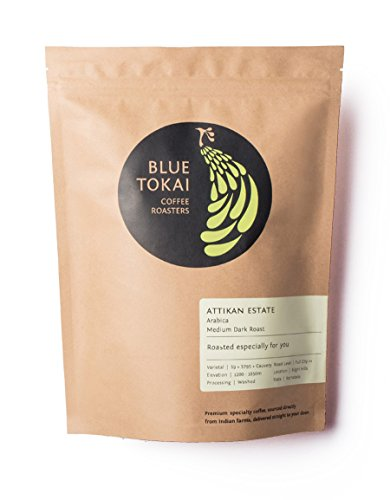Blue Tokai Coffee Roasters, Attikan Estate, Medium Dark Roast, Premium Single Estate Indian Coffee, 100% Arabica, 8.8 Oz (Whole Beans)