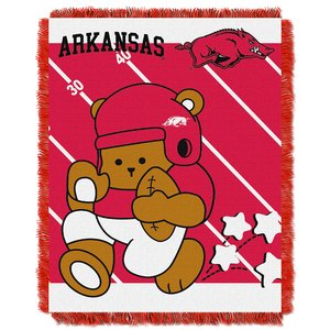 The Northwest Company Officially Licensed NCAA Arkansas Razorbacks Fullback Woven Jacquard Baby Throw Blanket, 36