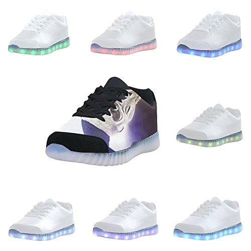 Skull Di Interestprint Light Up Shoes Sneakers Lampeggianti Scarpe Basse Casual Da Uomo Skull3
