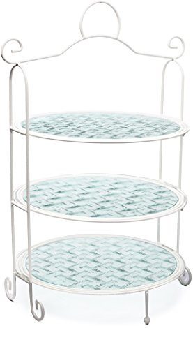 Circleware 54029 Annabella 3 Tier Rack-3 Glass Plates for sale  Delivered anywhere in USA