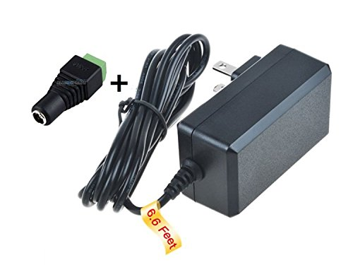 PKPOWER 6.6FT Cable AC/DC Adapter for Sony SNC-RZ25N SNCRZ25N IP Network Camera Power Supply Cord Cable PS Charger Mains PSU ()