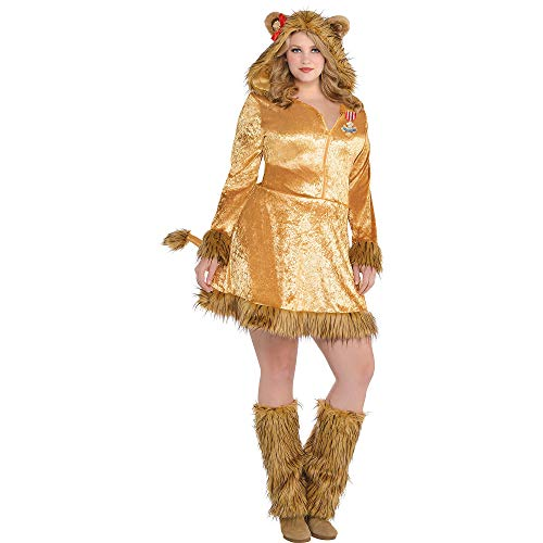 SUIT YOURSELF The Wizard of Oz Cowardly Lion Costume for Adults, Plus Size, Includes a Dress, a Hood, and Leg Warmers]()