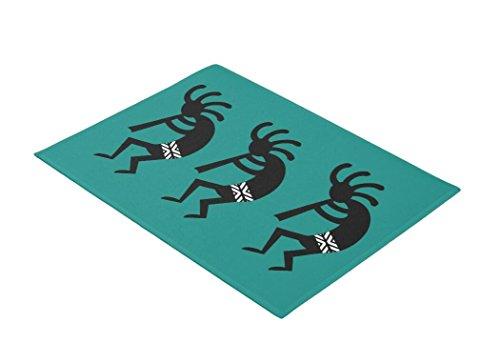 Cheap  Hbesa Teal And Black Kokopelli Southwest Design Doormat 30