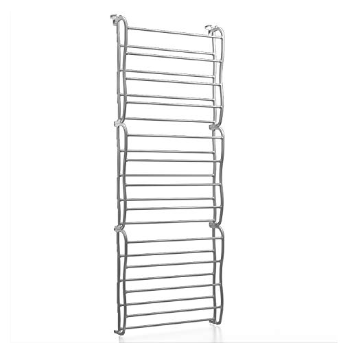 Berry Ave Hanging Shoe Rack (3-Tier) Over-the-Door Footwear Organizer | White, Heavy-Duty Metal Shelving for Tennis, Athletic, Boots, and More | Men, Women, Kids