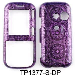Cell Armor LGLX265-SNAP-TP1377-S-DP LG Case, Transparent Dark Purple Circular Patterns
