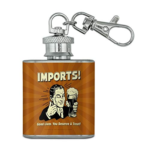 Mini Liver Snaps (Imports Good Liver Deserve a Treat Funny Humor Stainless Steel 1oz Mini Flask Key Chain)