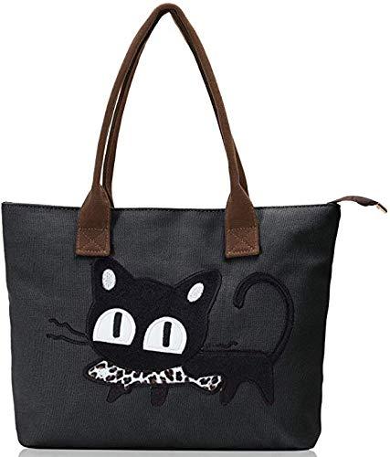 Amazon.com: Vintga lona Grande bolsa Bolso de mano asa ...