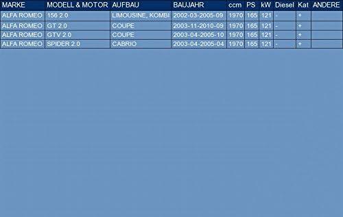 f/ür 156 GT GTV SPIDER 2.0 LIMOUSINE, KOMBI COUPE CABRIO 165hp 2002-2010 ETS-EXHAUST 3087 Hosenrohr