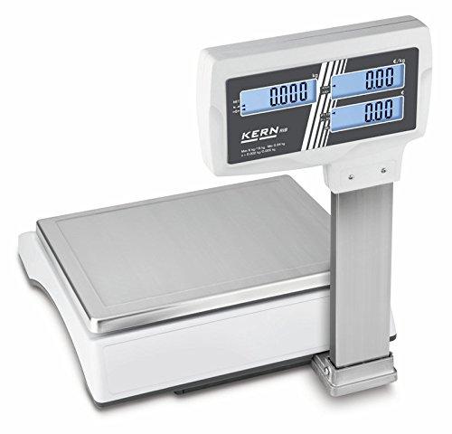 Báscula de tienda de alta calidad con memoria de artículos de gran tamaño [Kern RIB 6K-3HM] Balanza comercial con autorización de calibración [M], ...