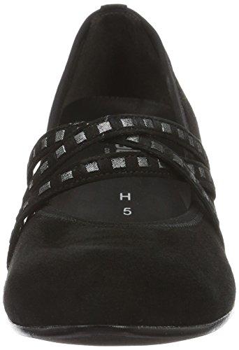Gabor Dames Troosten Pompen, Zwart Zwart (black 47)
