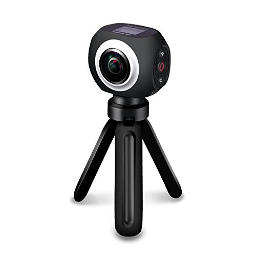 360 Degree VR Camera, Poweradd Real 360 Degree High Resolution Wifi UHD,4K/15FPS, 2.7K/25FPS, 1080P/30FPS,360°Wide Angle Lens Wireless Sports Action Camera with app control Poweradd