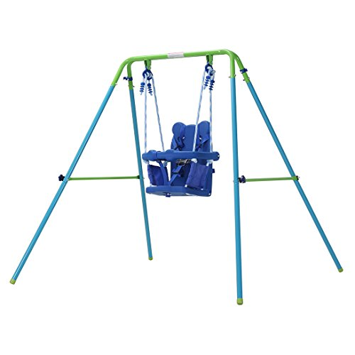 HLC Folding Toddler Swing Baby Swing & Infant Portable Garden Swing Steel...
