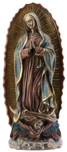 Virgin Guadalupe - SUMMIT COLLECTION Our Lady Guadalupe Virgin Mary Resin Statue, Bronze Color